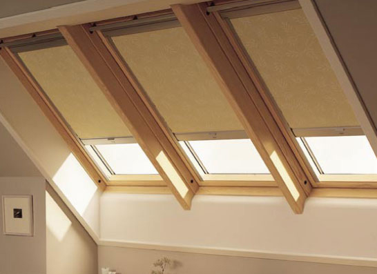 Velux skylight shades blinds house plans Velux skylight shade